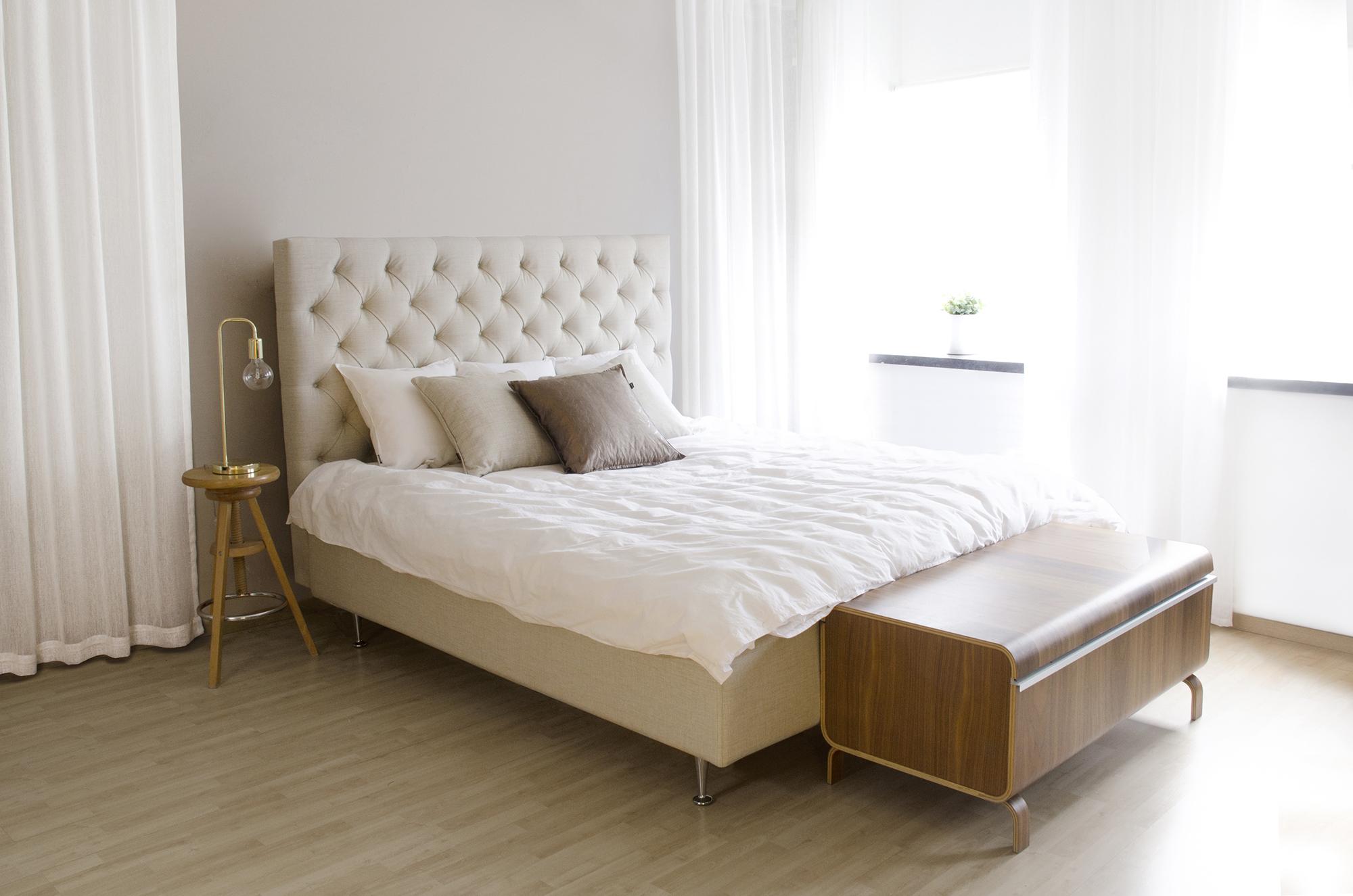 Inspiration sovrum i beiget och brunt! Lectus Sängar