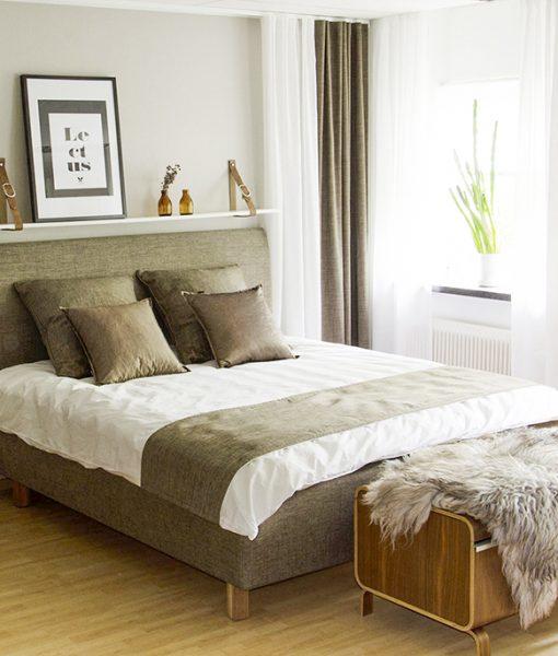 Sängben massiv oljad ek 12 cm