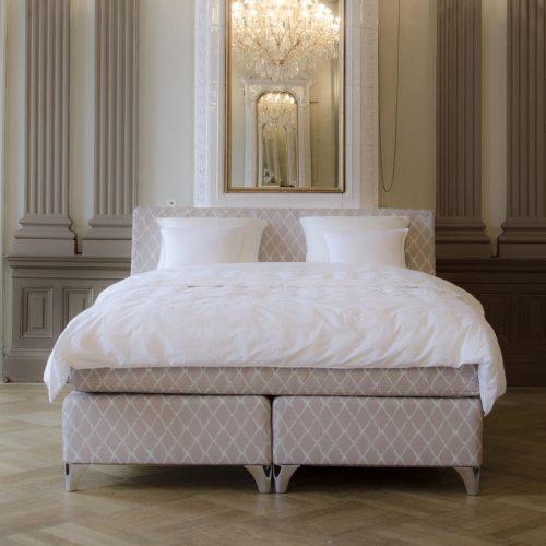 Kontinentalsäng LECTUS IMPRESS™, designklädsel Elisa, beige