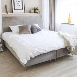 Ramsäng LECTUS FIRST™, sammetsklädsel, beige