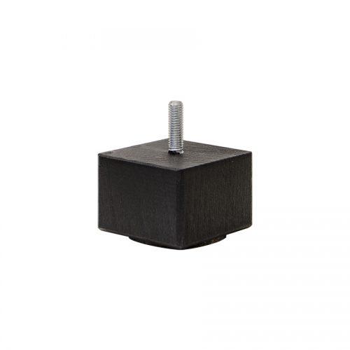 Sängben 4-kant svart, 4 cm