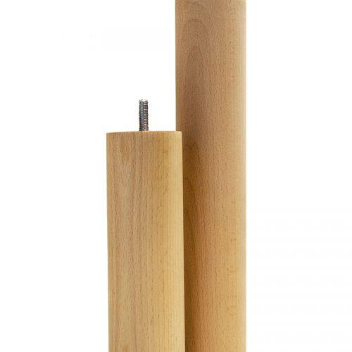 Sängben runda, oljad bok, 19 och 30 cm