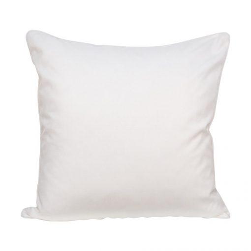 Prydnadskudde, vit, 50x50 cm