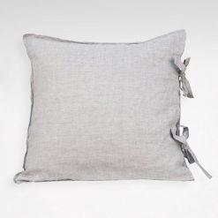 Kuddfodral Linnéa, med knytband, grå